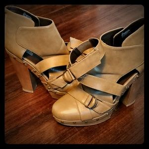 Charlotte Russe strappy chunky heels